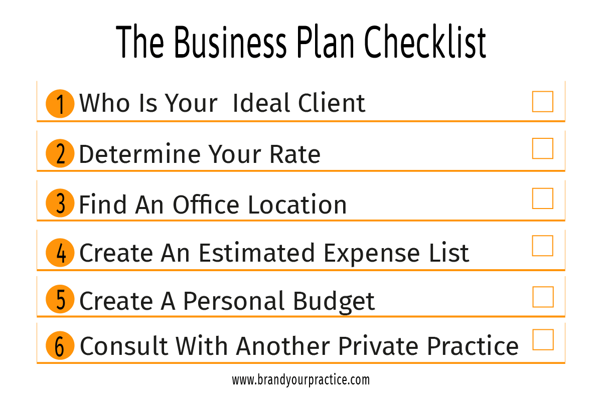 The Business Plan Checklist Infographic - Brand Your Practice