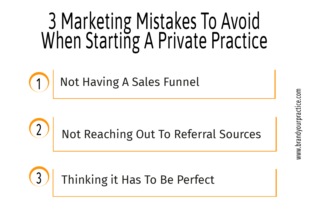 3 Marketing Mistakes to Avoid When Starting a Private Practice Infographic - Brand Your Practice