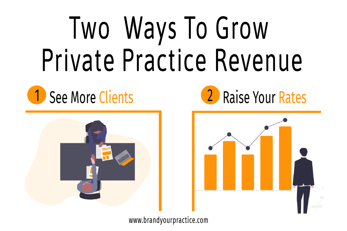 Two Ways to Grow Private Practice Revenue Infographic - Brand Your Practice