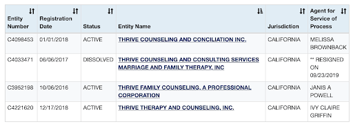 """""""Thrives Counseling"""" in the state of California - Brand Your Practice"""