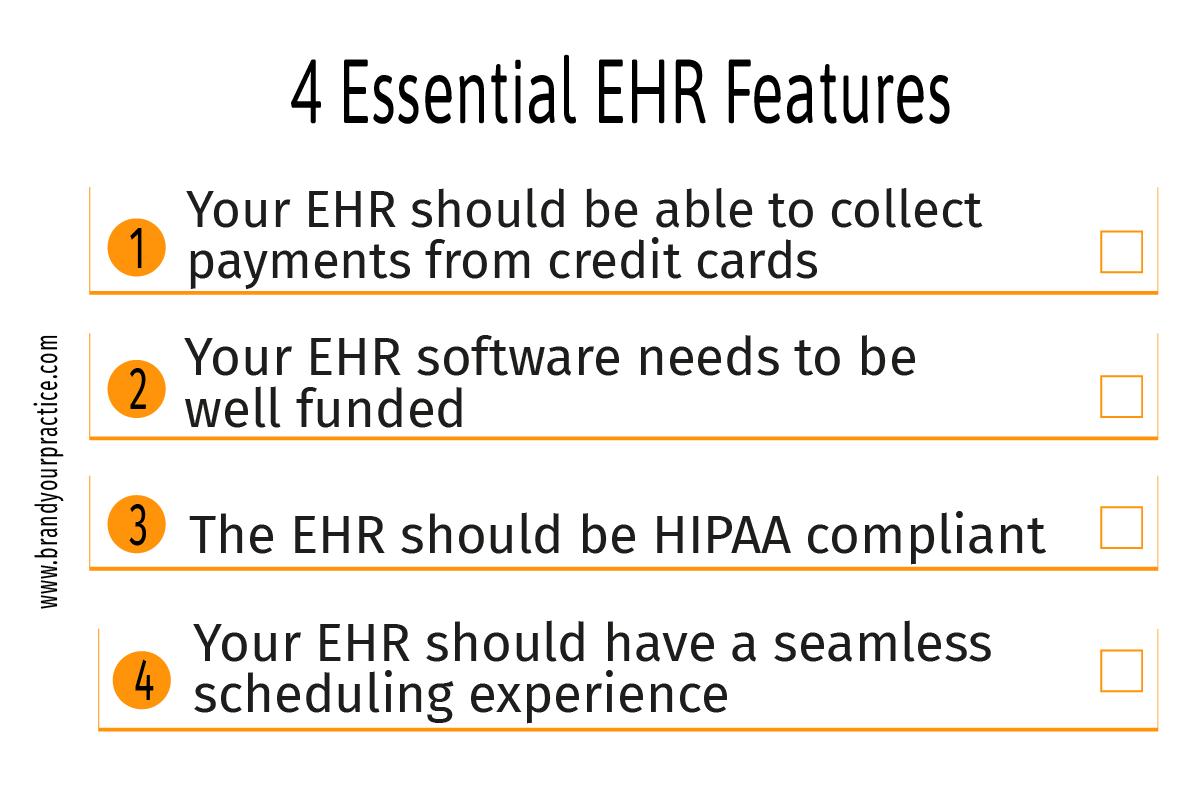 Private Practice - 4 Essential EHR Features - Brand Your Practice