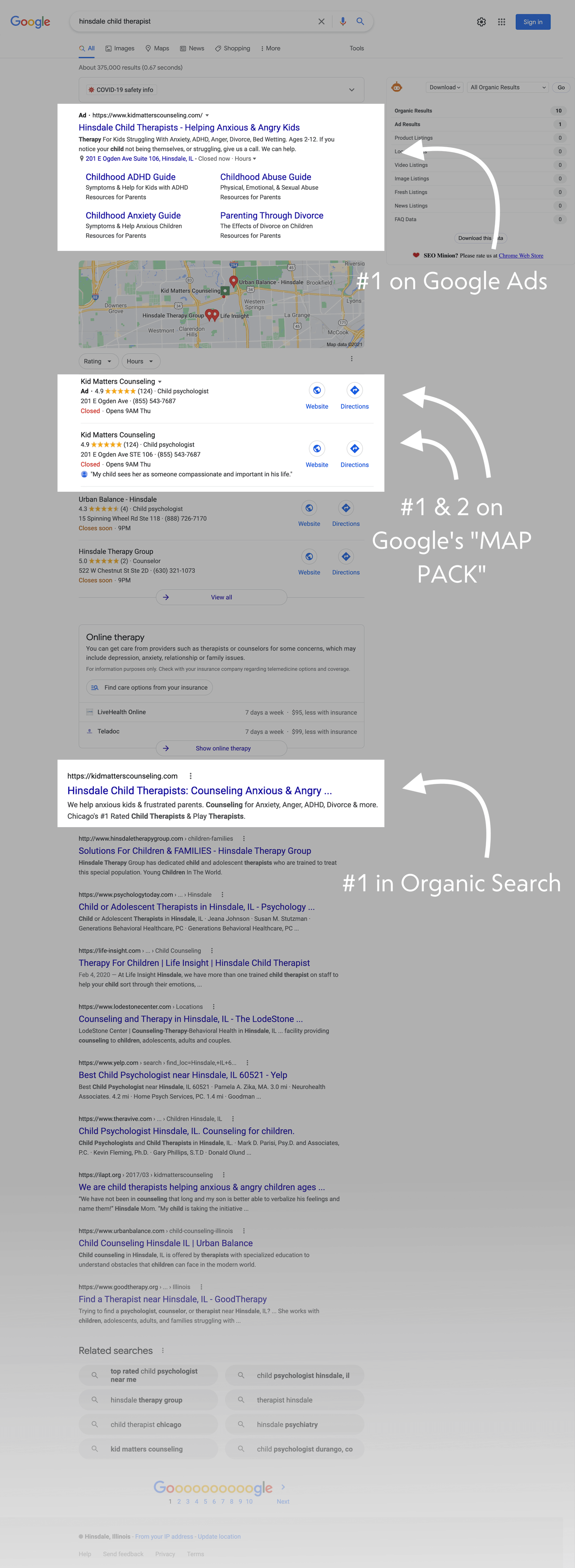 Google Ads Case Study Full-Page Screenshot - Brand Your Practice